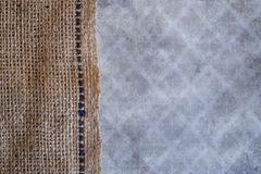 Burlap and grungy background texture Royalty Free Stock Images