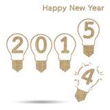 Burlap happy new year 2015 Royalty Free Stock Photography