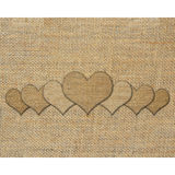 Burlap heart Royalty Free Stock Photo