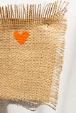 Burlap Heart Print Royalty Free Stock Photography