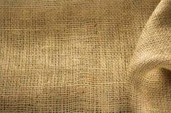 Burlap hessian sacking. As background texture stock images