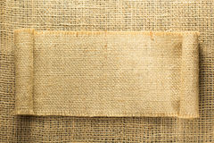 Burlap hessian sacking. As background texture stock photos