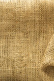 Burlap hessian sacking. As background texture royalty free stock images
