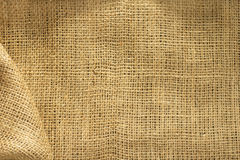 Burlap hessian sacking. As background texture royalty free stock photography