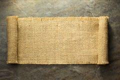 Burlap hessian sacking. On background texture stock photo