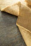 Burlap hessian sacking. At background texture royalty free stock photo