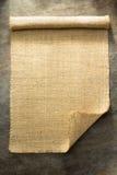 Burlap hessian sacking. On background texture royalty free stock images
