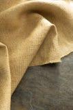 Burlap hessian sacking. At background texture stock photography