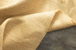 Burlap hessian sacking. At background texture royalty free stock images