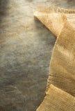 Burlap hessian sacking. At background texture royalty free stock image