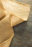Burlap hessian sacking. At background texture stock image