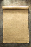 Burlap hessian sacking. On background texture royalty free stock photos