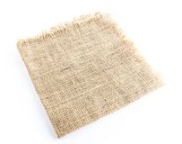 burlap hessian sacking isolated stock photo