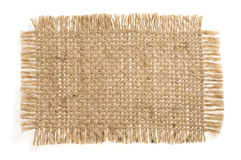 Burlap hessian sacking isolated on white. Background stock photo