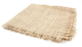 Burlap hessian sacking isolated. On white background royalty free stock photography
