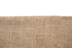 burlap hessian sacking isolated stock photography