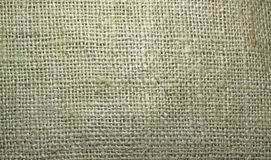 Burlap or hessian sacking material background. A closeup of burlap or brown hessian sacking material for a background stock photo