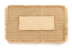Burlap hessian sacking and paper Stock Photography