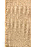 Burlap hessian sacking on white Stock Image