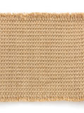 Burlap hessian sacking on white Stock Photography