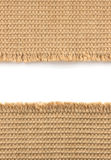 Burlap hessian sacking on white. Background royalty free stock photos