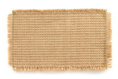 Burlap hessian sacking on white Royalty Free Stock Images
