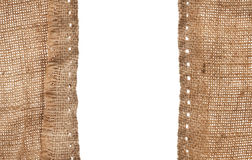 Burlap with holes from strings Royalty Free Stock Photo