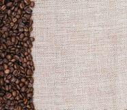 Burlap i kawy adra Obraz Stock