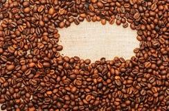 Burlap i kawy stare fasole Zdjęcie Royalty Free
