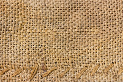 Burlap and knit  background Stock Images