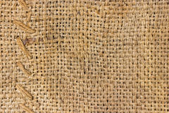Burlap and knit  background Stock Photos