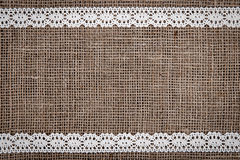 Burlap lace Royalty Free Stock Photography