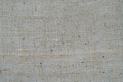 Burlap or linen fabric as background Royalty Free Stock Photography