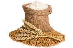 burlap mąki worek mały obrazy stock
