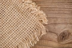 Burlap napkin texture Stock Photos