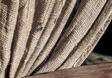 Burlap naturalnej tkaniny tekstury tkaniny słoneczny dzień obraz royalty free