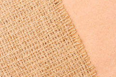 Burlap and paper background Stock Image