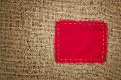 Burlap with patch Stock Images