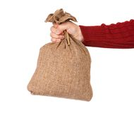 Burlap sack Stock Images