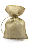 Burlap sack. Burlap brown sack, gift bag royalty free stock photos