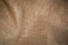 Burlap sack abstract background Royalty Free Stock Images