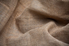 Burlap or sack texture Royalty Free Stock Photos