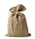 Burlap sack. On a white background royalty free stock images