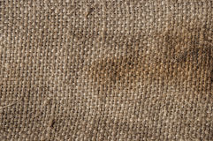 Burlap or sackcloth background. Stock Photos