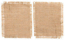 Burlap Sacking Cloth Pieces, Rustic Bagging Fabric Sack Patch stock photo