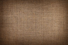 Burlap or sacking texture for the background. Close up royalty free stock images