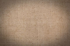 Burlap or sacking texture for the background Stock Photos