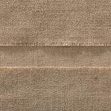 Burlap Seamless Fabric Edge Background, Strip Sack Cloth Frame Stock Photo