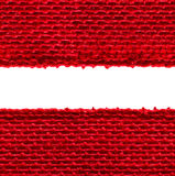 Burlap Seamless Fabric Edge Texture, Sacking Cloth Border, Red Royalty Free Stock Photography