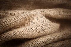 Burlap tekstury tło zdjęcia stock